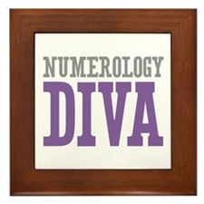 Numerology DIVA Framed Tile