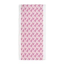 Breast Cancer Awarenes Pink Ribbon Beach Towel