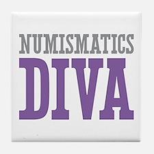 Numismatics DIVA Tile Coaster