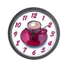 Pink Expresso Wall Clock
