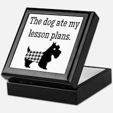 Dog Ate My Lesson Plans Keepsake Box
