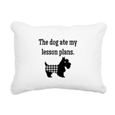 Dog Ate My Lesson Plans Rectangular Canvas Pillow