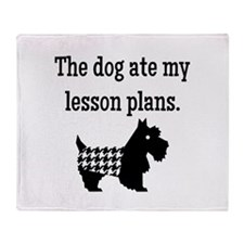 Dog Ate My Lesson Plans Throw Blanket