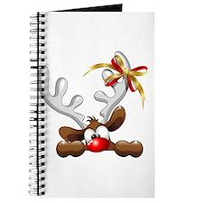 Funny Christmas Reindeer Cartoon Journal