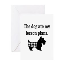 Dog Ate My Lesson Plans Greeting Cards