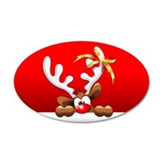 Funny Christmas Reindeer Cartoon Wall Decal