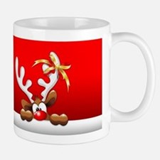 Funny Christmas Reindeer Cartoon Mugs