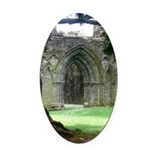 Inchmahome Priory Oval Car Magnet