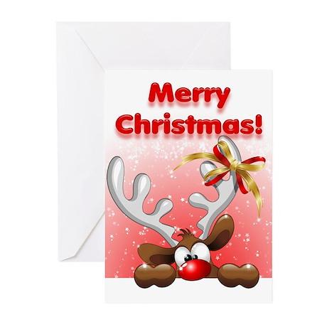 Funny christmas reindeer cartoon greeting cards by for Funny reindeer christmas cards