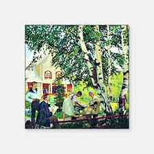 "Boris Kustodiev - At Home,  Square Sticker 3"" x 3"""