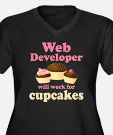 Web Developer Will Work For Cupcakes Women's Plus