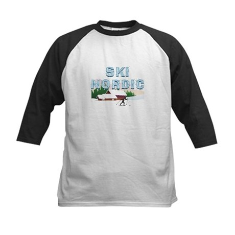 TOP Ski Nordic Kids Baseball Jersey