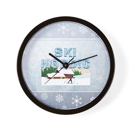 Ski Nordic Wall Clock