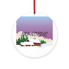 Ski Nordic Round Ornament