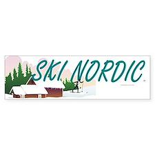 Ski Nordic Bumper Sticker
