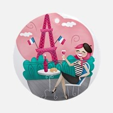 Je T'aime Paris Ornament (Round)