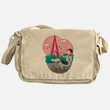 Je T'aime Paris Messenger Bag