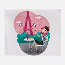 Je T'aime Paris Throw Blanket