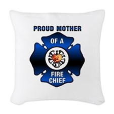 Fire Chiefs Mother Woven Throw Pillow