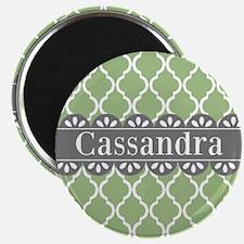 Sage Moroccan Lattice Grey Lace Magnets