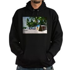 Little Beach Shack Under the Palms at Xmas Hoodie