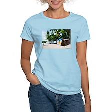Little Beach Shack Under the Palms at Xmas T-Shirt