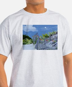 Beach Fence and Dune for Christmas T-Shirt