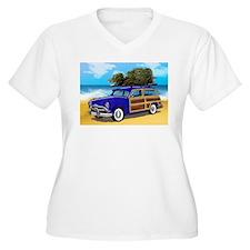 Xmas Tree Woodie Plus Size T-Shirt