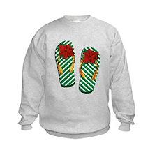 Xmas Flip Flops Sweatshirt