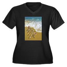 Washed Up on Shore no edges Plus Size T-Shirt