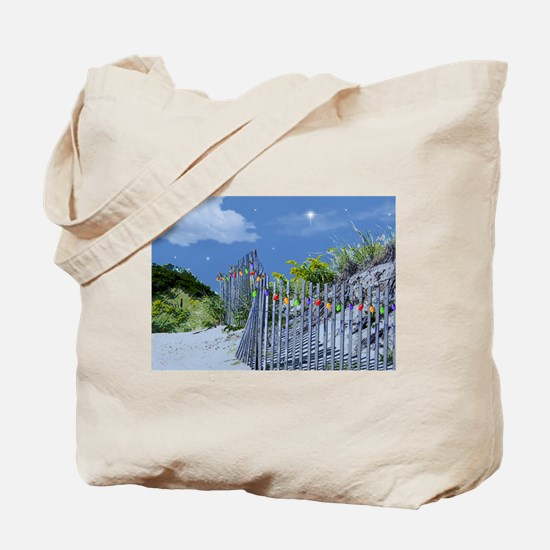 Beach Fence and Dune for Christmas Tote Bag