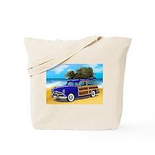 Xmas Tree Woodie Tote Bag
