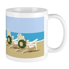Beach Chairs with Wreaths Mugs