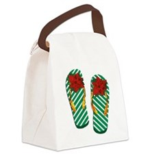Xmas Flip Flops Canvas Lunch Bag