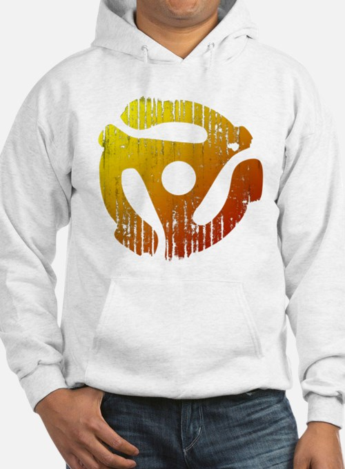 Distressed 45 RPM Adapter Sweatshirt