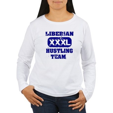 Liberian hustling team Women's Long Sleeve T-Shirt