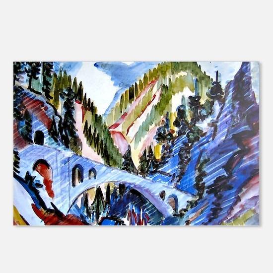 Bridge in Landwassertal,  Postcards (Package of 8)