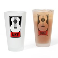 Obey the Uke Drinking Glass