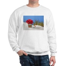 Pointsettia in a Sand Pail Sweatshirt