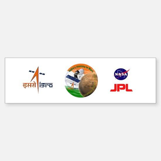 India's Mars Orbiter (MOM) Sticker (Bumper)