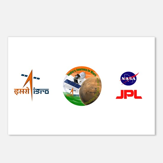 India's Mars Orbiter (MOM) Postcards (Package of 8