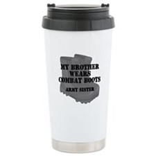 Army Sister Brother Combat Boots Travel Mug