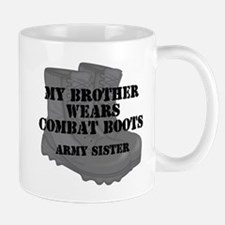 Army Sister Brother Combat Boots Mugs