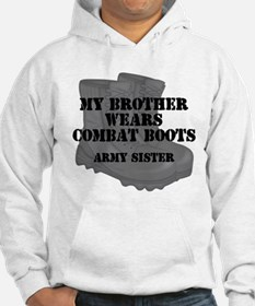 Army Sister Brother Combat Boots Hoodie