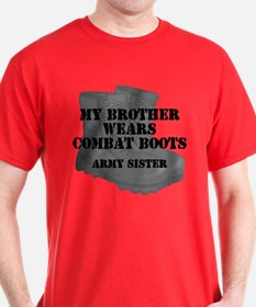 Army Sister Brother Combat Boots T-Shirt