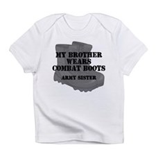 Army Sister Brother Combat Boots Infant T-Shirt