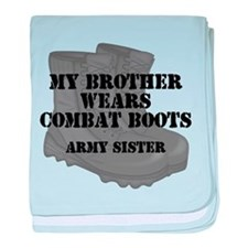 Army Sister Brother Combat Boots baby blanket
