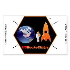 """USRocketShips 3x5"""" Decal"""