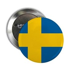 "Swedish Flag 2.25"" Button"