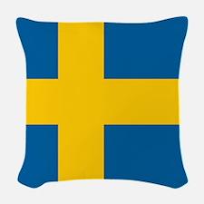 Swedish Flag Woven Throw Pillow